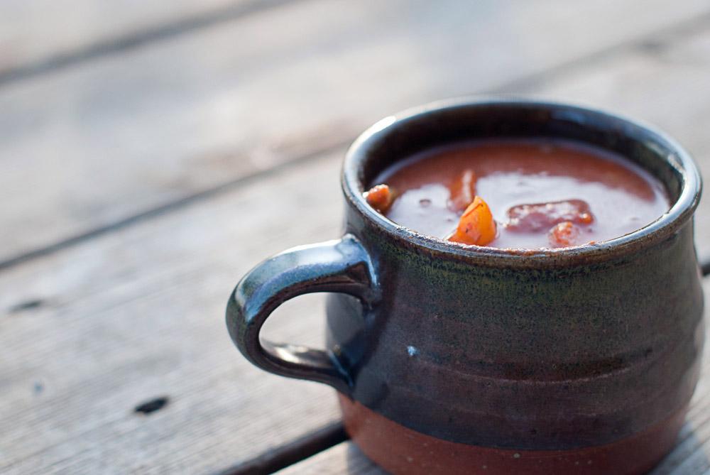 taza de sopa