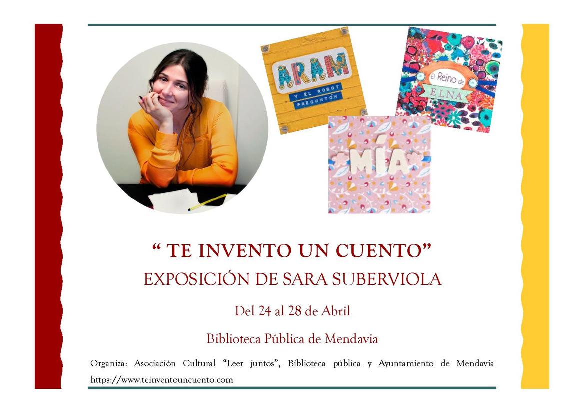 Exposición de cuentos en la biblioteca de Mendavia