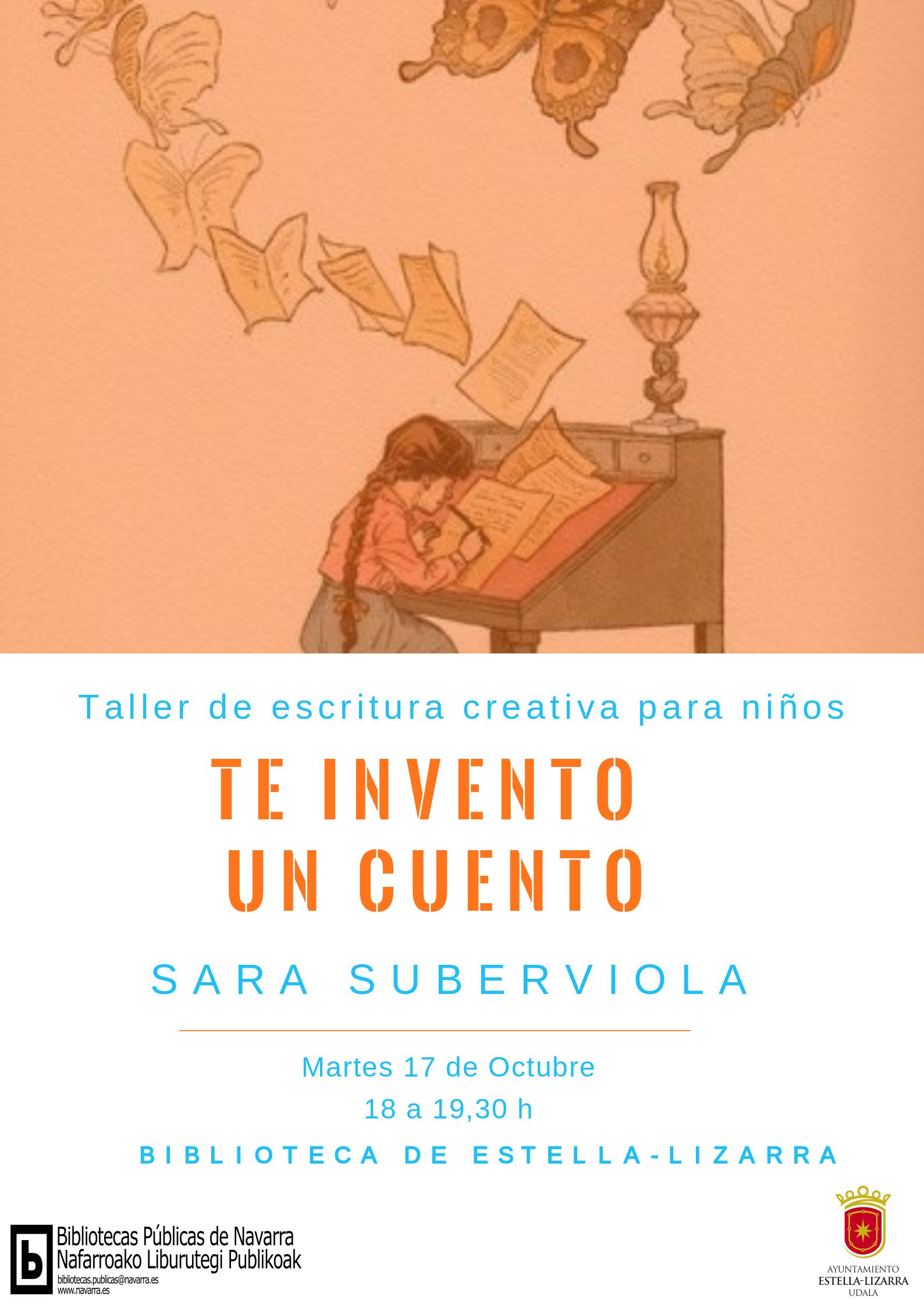 taller de escritura creativa para niños en la biblioteca de Estella