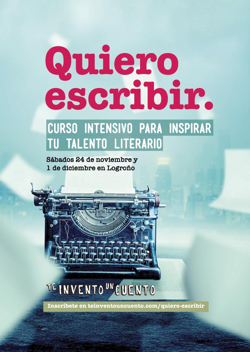 curso presencial de escritura creativa en Logroño